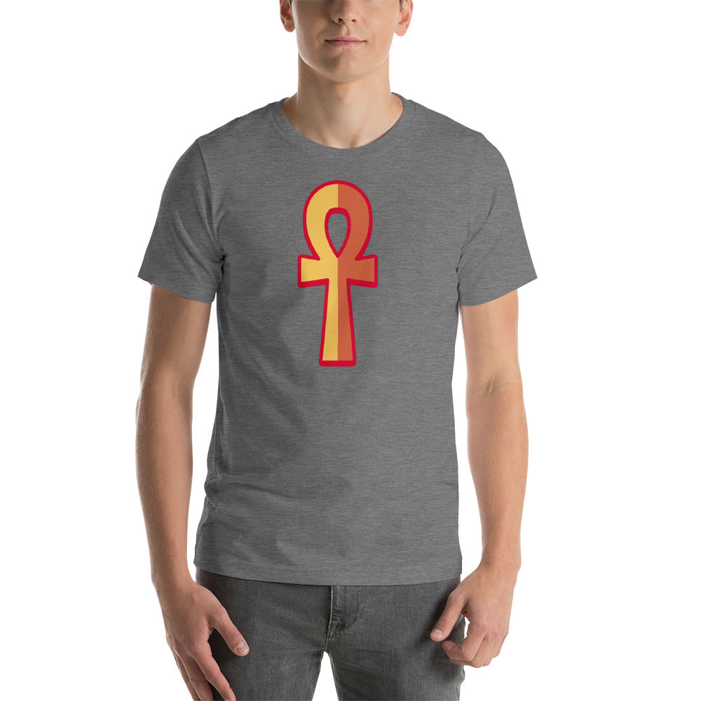 KarmaGear-T-Shirt-Ankh-Cotton-O-Neck-Short Sleeve -For Men