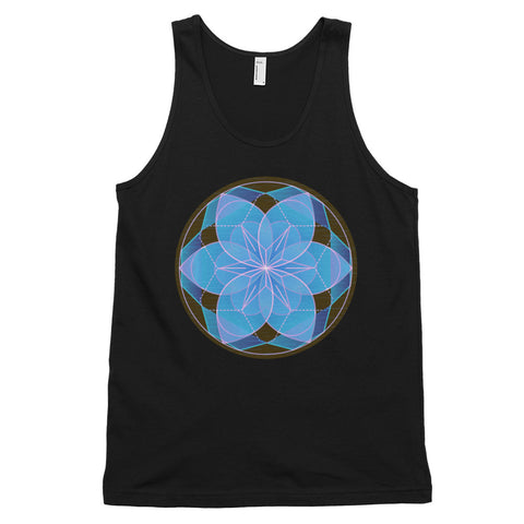 KarmaGear-T-Shirt Tank Top-Lotus Flower-Cotton-For Men