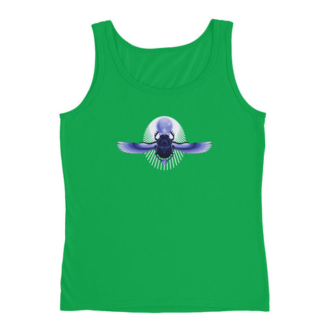 KarmaGear-T-Shirt Tank Top-Scarab-Ankh-Eye of Horus-Cotton-For Women