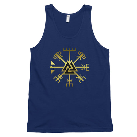 KarmaGear-T-Shirt Tank Top-Vegvisir-Valknut-Cotton-For Men