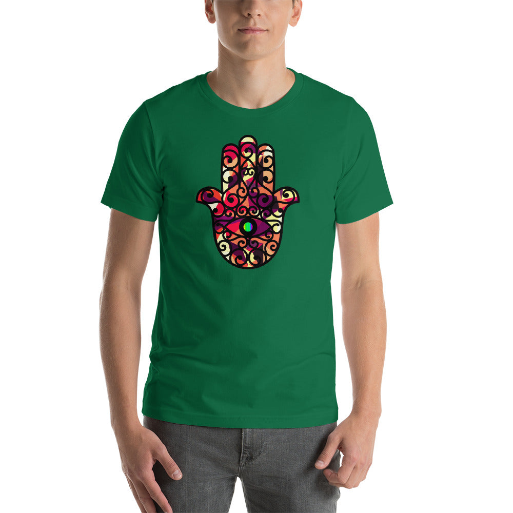 KarmaGear-T-Shirt-Hamsa-Cotton-O-Neck-Short Sleeve -For Men