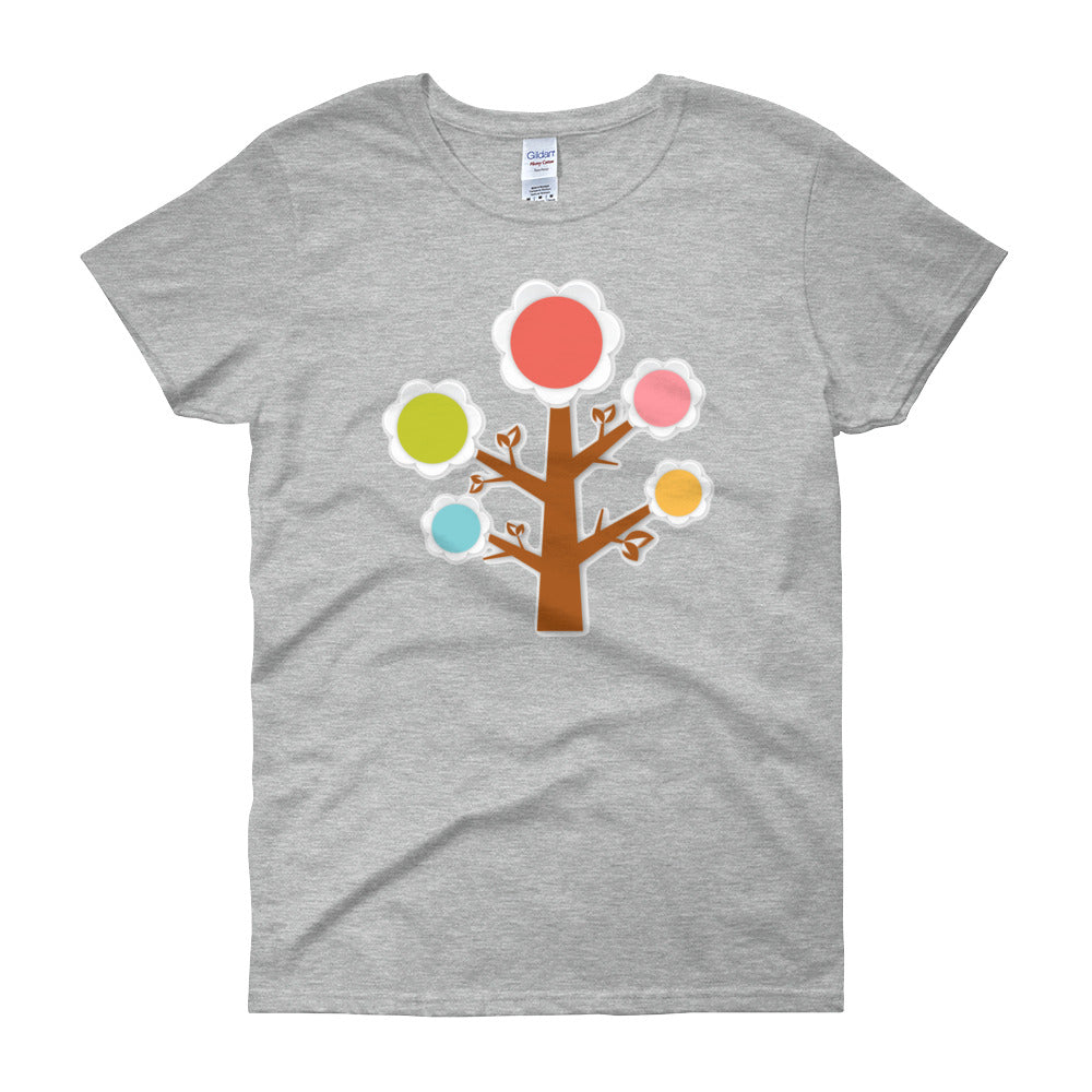 KarmaGear-T-Shirt-Tree of Life-Cotton-O-Neck-Short Sleeve-For Women