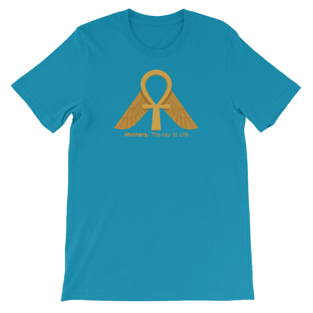 KarmaGear-T-Shirt-Ankh-Isis Goddess-Cotton-O-Neck-Short Sleeve -For Men