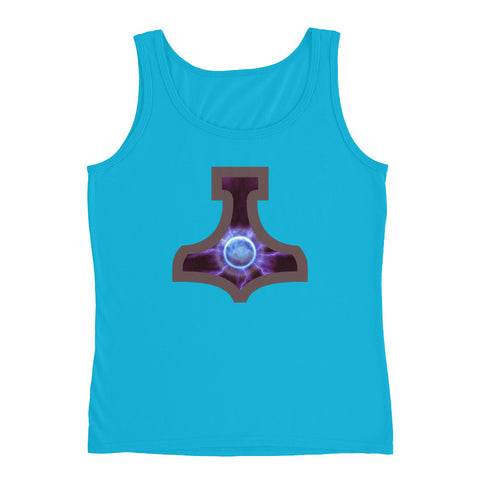 KarmaGear-T-Shirt Tank Top-Thors Hammer-Cotton-For Women