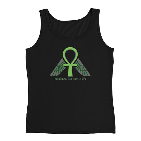 KarmaGear-T-Shirt Tank Top-Ankh-Isis Goddess-Cotton-For Women