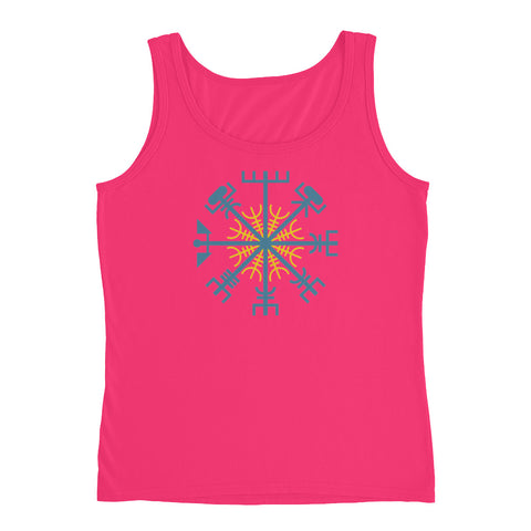 KarmaGear-T-Shirt Tank Top-Vegvisir-Helm of Awe-Cotton-For Women