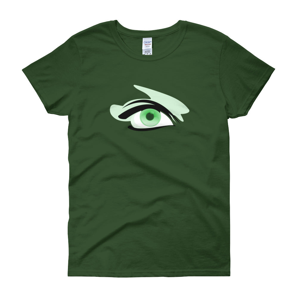KarmaGear-T-Shirt-Eye of Horus-Cotton-O-Neck-Short Sleeve-For Women
