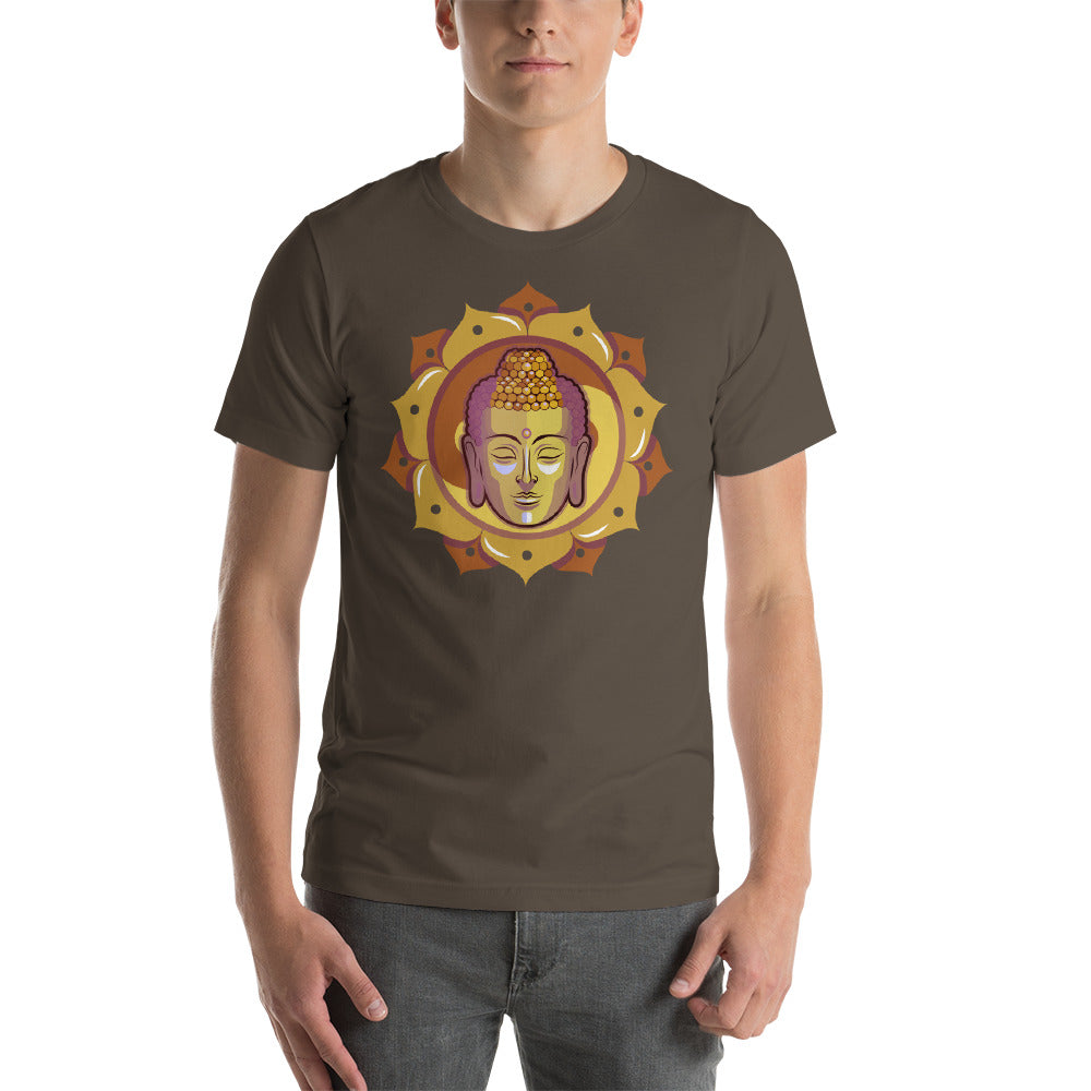 KarmaGear-T-Shirt-Lotus Flower-Buddha-Cotton-O-Neck-Short Sleeve -For Men