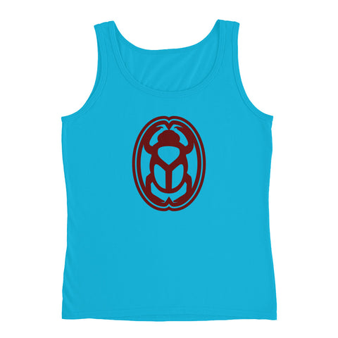 KarmaGear-T-Shirt Tank Top-Scarab-Cotton-For Women