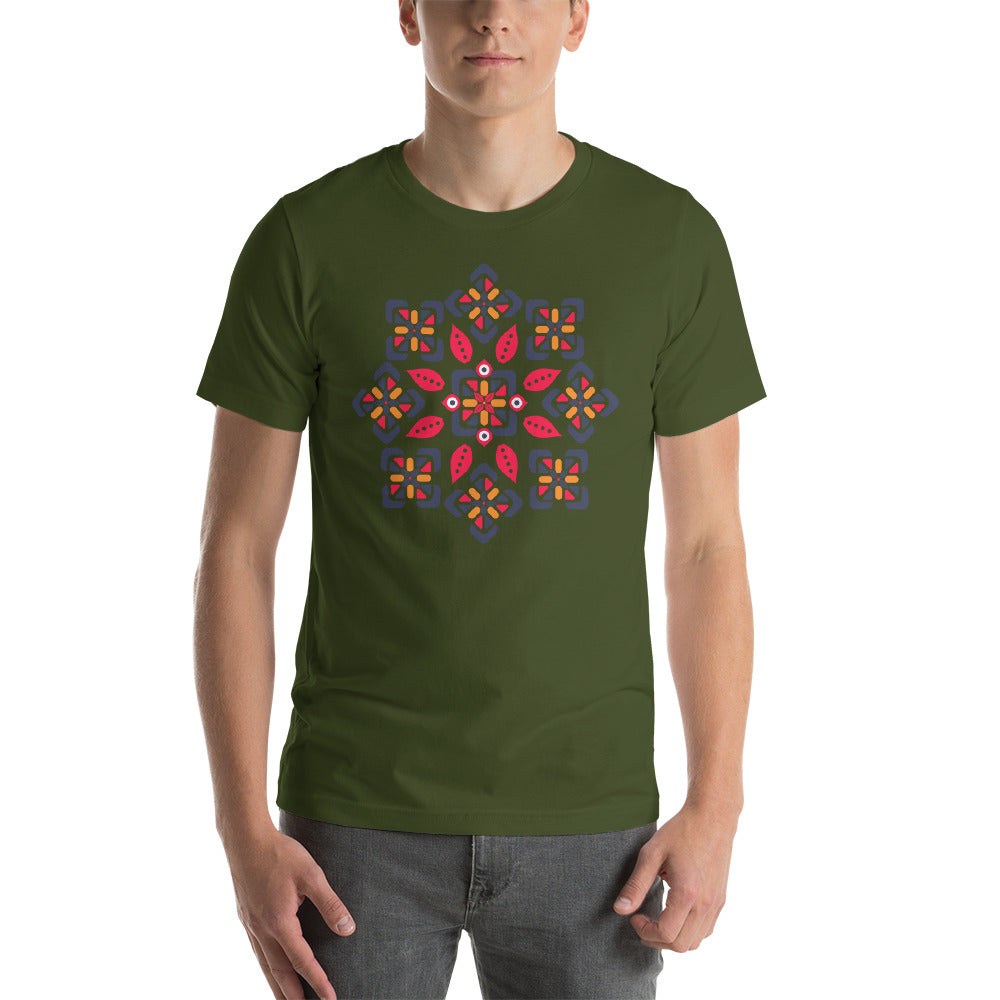KarmaGear-T-Shirt-Lotus Flower-Cotton-O-Neck-Short Sleeve -For Men