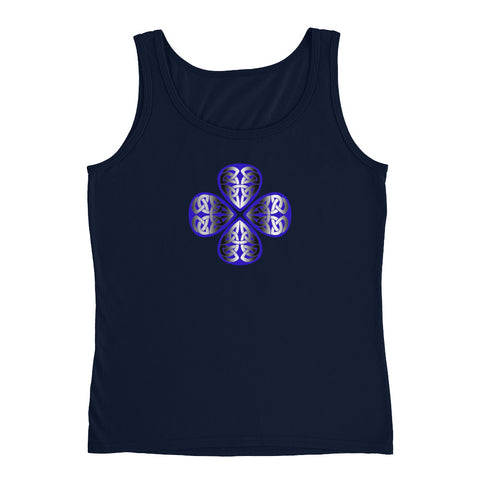 KarmaGear-T-Shirt Tank Top-Triquetra-Lucky Clover-Cotton-For Women