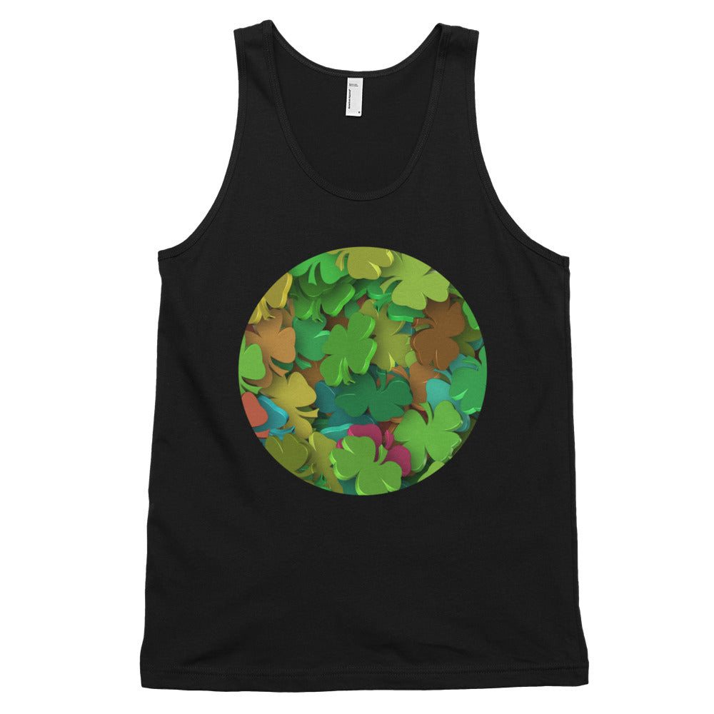 KarmaGear-T-Shirt Tank Top-Lucky Clover-Cotton-For Men