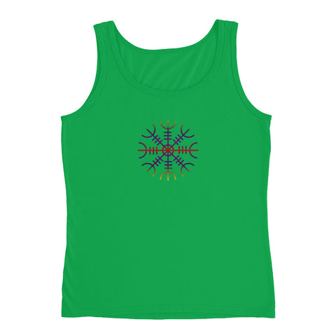 KarmaGear-T-Shirt Tank Top-Helm of Awe-Cotton-For Women