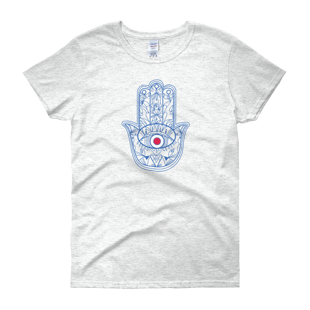 KarmaGear-T-Shirt-Hamsa-Cotton-O-Neck-Short Sleeve-For Women