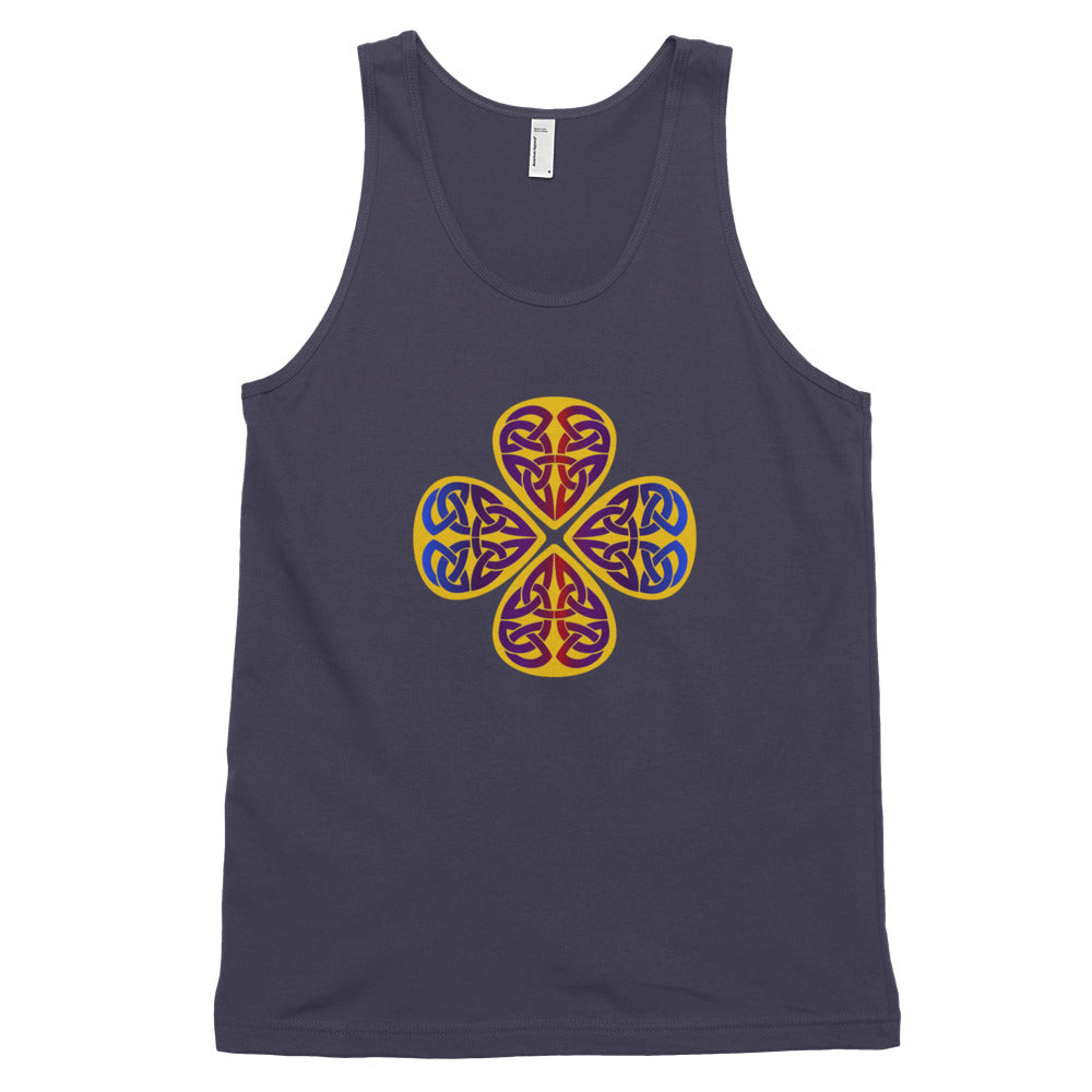 KarmaGear-T-Shirt Tank Top-Triquetra-Lucky Clover-Cotton-For Men