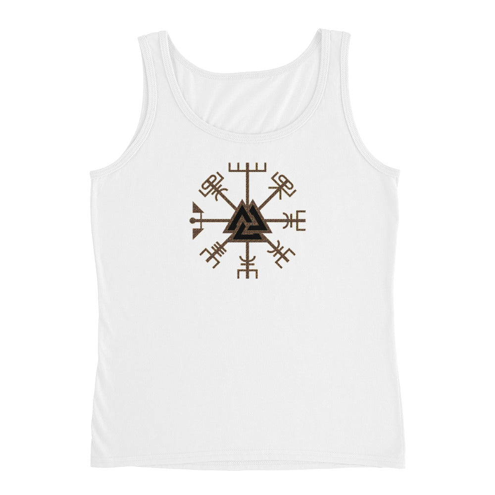 KarmaGear-T-Shirt Tank Top-Vegvisir-Valknut-Cotton-For Women