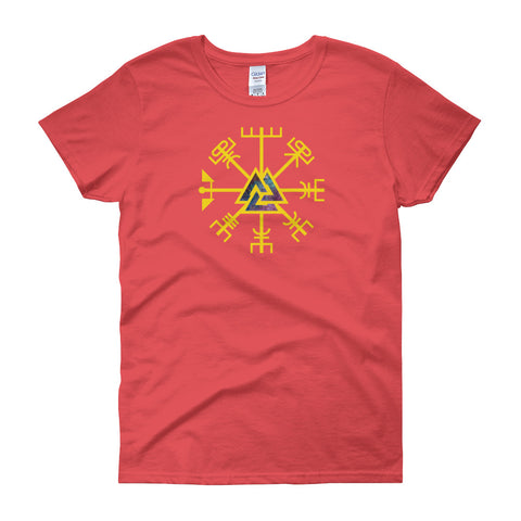 KarmaGear-T-Shirt-Valknut-Vegvisir-Cotton-O-Neck-Short Sleeve-For Women