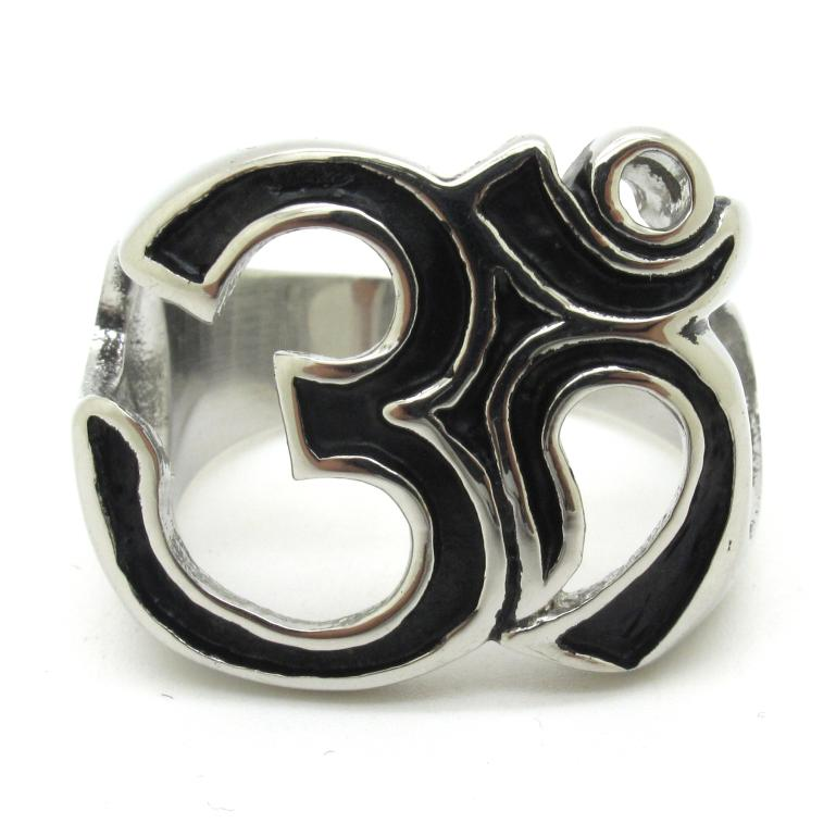 KarmaShine- Ring-Om-Stainless Steel-Size 7-15
