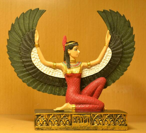 Home Accent Piece-Isis Goddess-12.5x4.8x12cm-Hand-painted - KarmaCraze