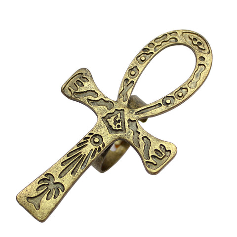 Ring-Ankh-Copper-Gold or Silver Plating-Size 7 - KarmaCraze