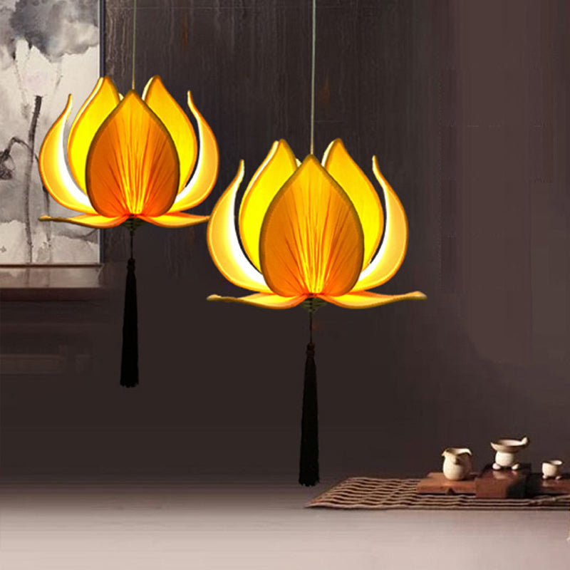 KarmaStuff- Lotus Flower Leaf-Home Ceiling Hanging Lamp-LED Bulbs included