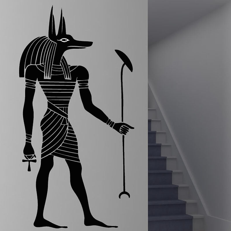 Home Wall Sticker-Anubis-Removable-Home Decor-Black or White - KarmaCraze