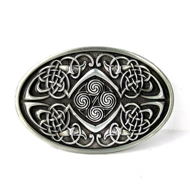 Belt Buckle-Triquetra-No Belt - KarmaCraze
