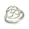Image of KarmaShine- Ring-Om-Silver or Gold-38 Unique Sizes