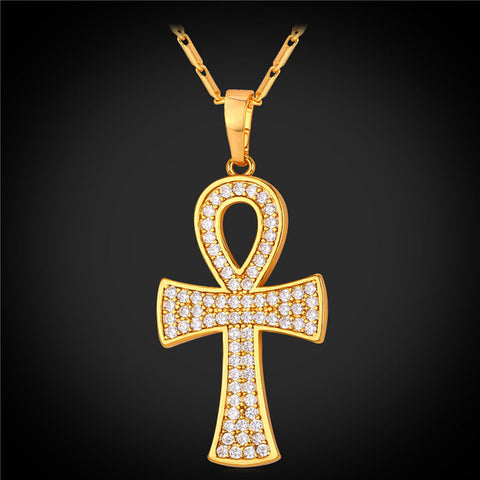Necklace-Ankh-Copper Alloy-Gold or Silver Color - KarmaCraze