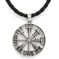 KarmaShine- Necklace-Vegvisir-Zinc Alloy-Silver Color-Rope Chain