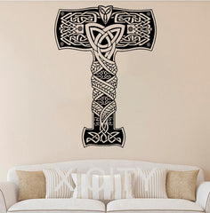 Home Wall Sticker-Thors Hammer-Removable-Home Decor - KarmaCraze