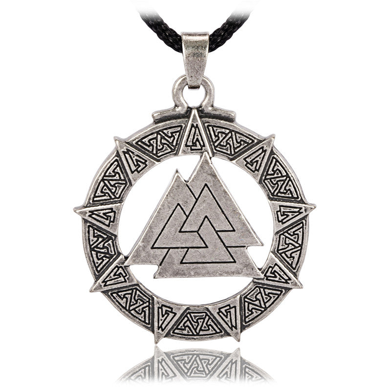Necklace-Valknut-Rope Chain - KarmaCraze