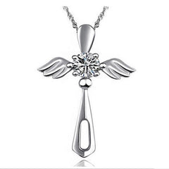 KarmaShine-Necklace-Isis Goddess-Ankh-925 Sterling Silver-Cubic Zirconia