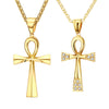 Image of Necklace-Ankh-Gold-color-Stainless Steel-Single or Couples Edition - KarmaCraze