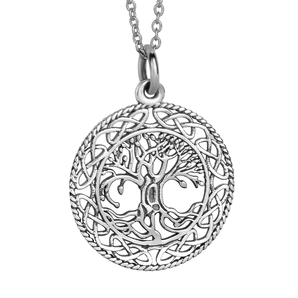 KarmaShine- Necklace-Tree of Life-925 Sterling Silver Choker