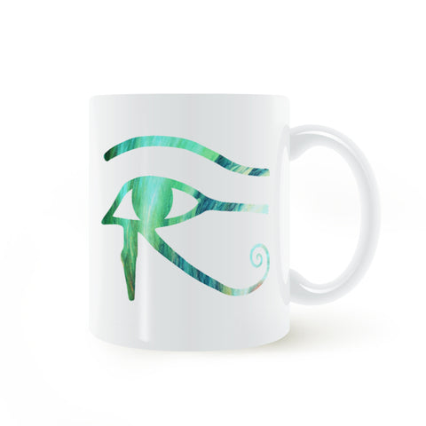 Home Coffee Mug-Eye of Horus-Ceramic-11oz - KarmaCraze