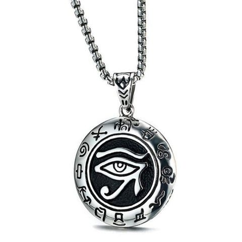 Necklace-Eye of Horus-Stainless Steel - KarmaCraze