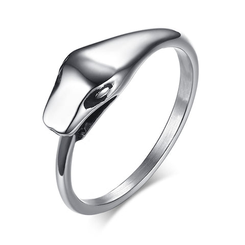 KarmaShine- Ring-Ouroboros-Stainless Steel-Silver Color-Sizes 8-12