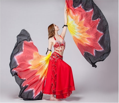 Halloween Costume-Isis Goddess-2PCS Dance Wings-100% Silk - KarmaCraze