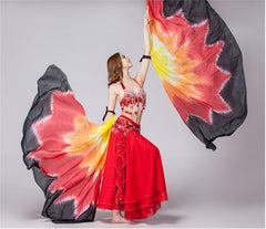 KarmaStuff- Isis Goddess-Halloween Costume-2PCS Dance Wings-100% Silk