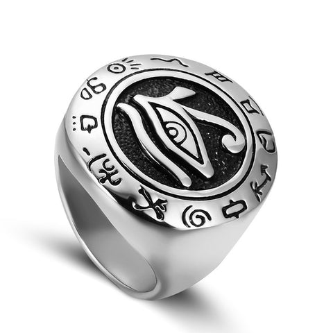 Ring-Eye of Horus-Silver or Gold-8 Sizes - KarmaCraze