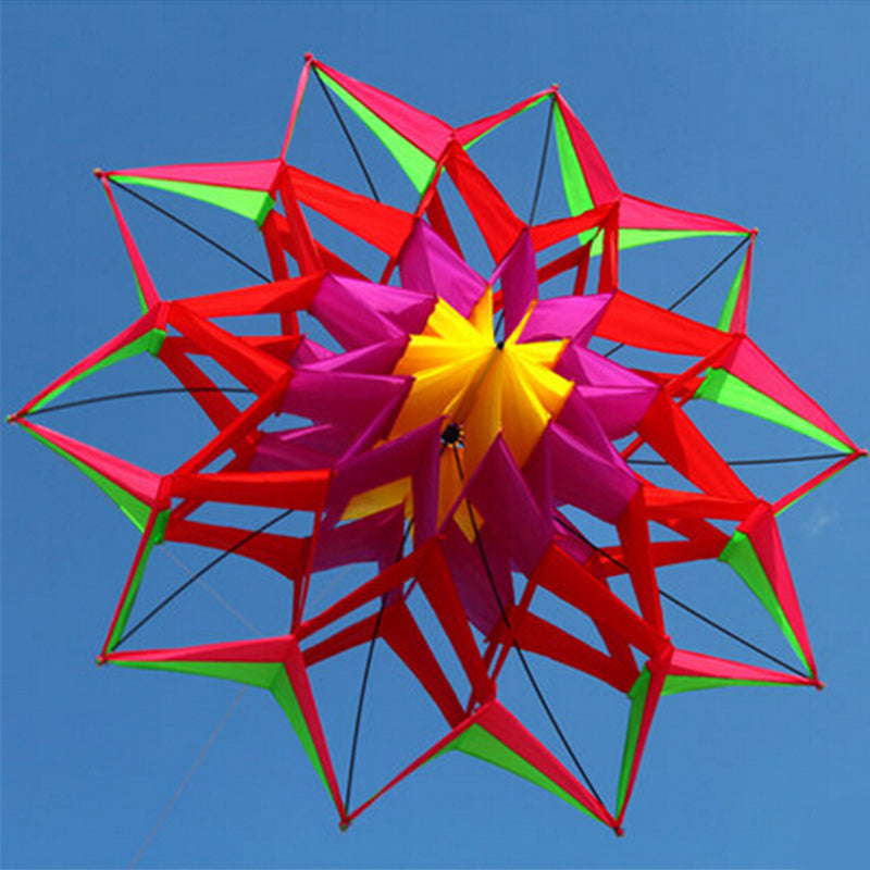 KarmaStuff- Lotus Flower-Home 3D Kite-With Handle And Line