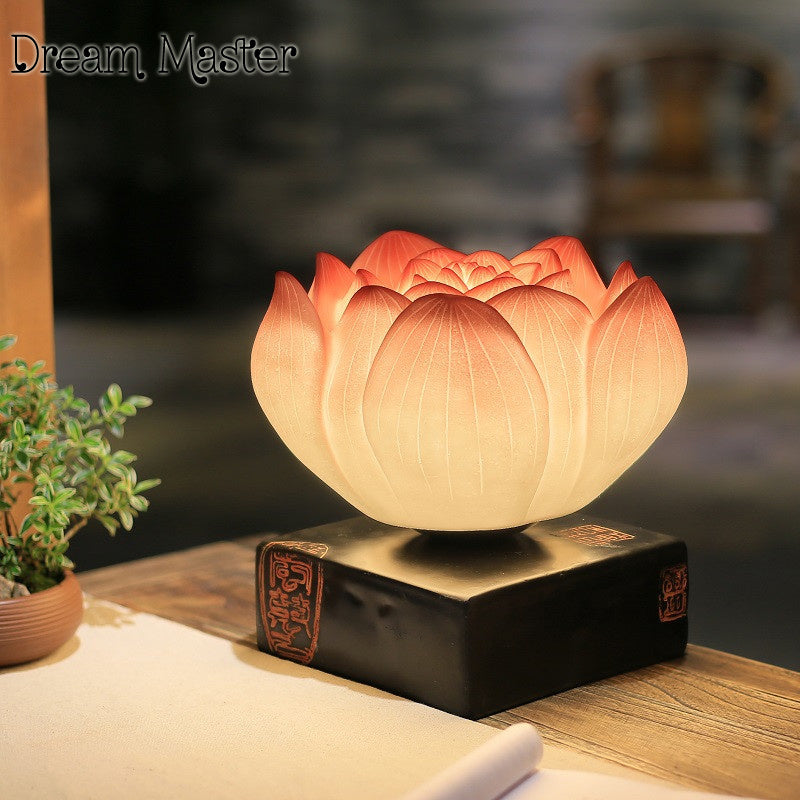 KarmaStuff- Lotus Flower-Home Table Lamp-5 Style-Incandescent bulbs