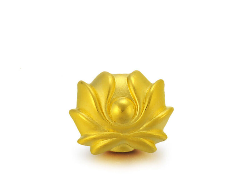 KarmaShine- Bracelet Bead-Lotus Flower-Pure 999 24K Yellow Gold