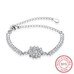KarmaShine- Bracelet-Lotus Flower-925 Sterling Silver