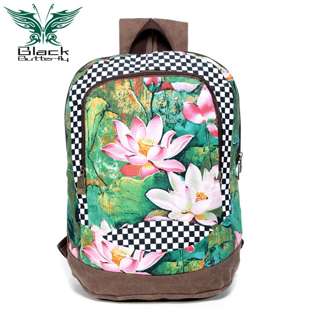 KarmaShine- Backpack-Lotus Flower-Polyester
