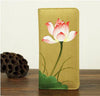 Image of KarmaShine- Wallet-Lotus Flower-Hand Painted-Cotton