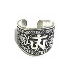 KarmaShine- Ring-Om-Silver Plated