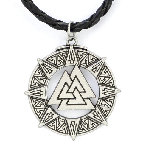 KarmaShine- Necklace-Valknut-Stainless Steel-Rope Chain