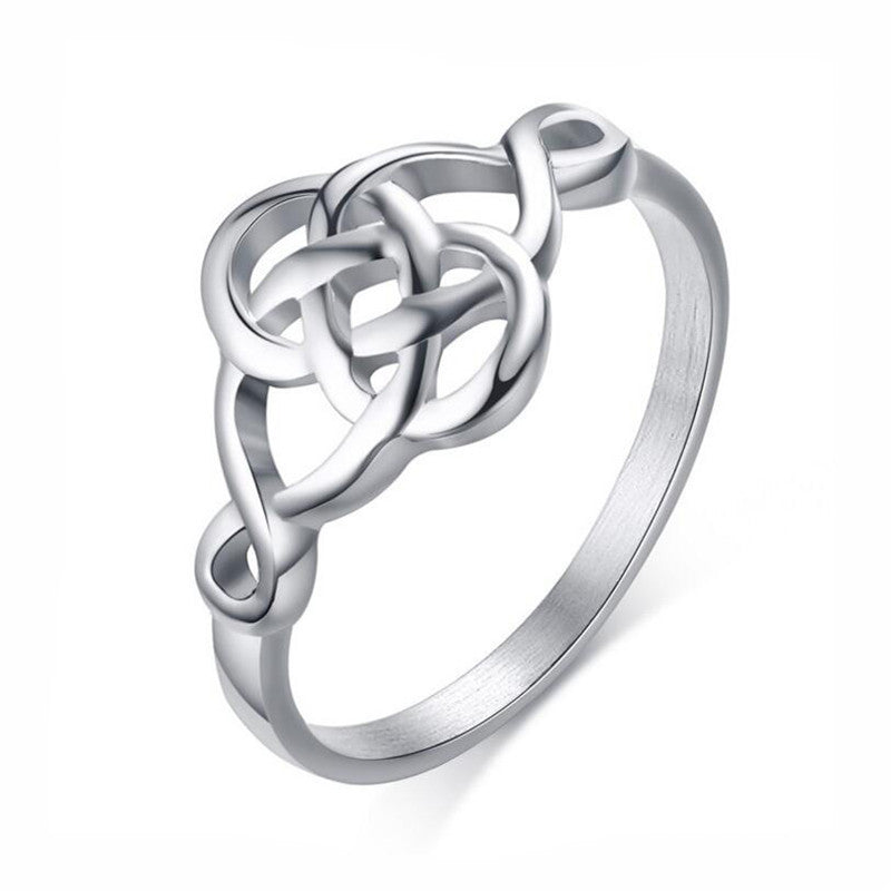 KarmaShine- Ring-Triquetra-Stainless Steel